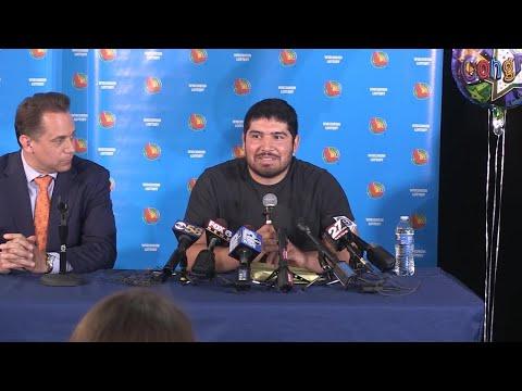 See Manuel Franco claim his $768 million Powerball jackpot