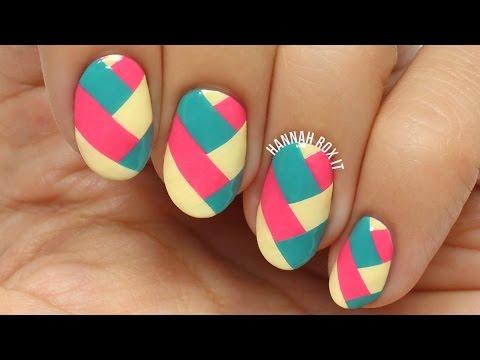 Easy Braided Nail Art (using DIY polish decals!)