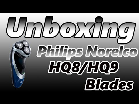 Unboxing Philips Norelco HQ8 / HQ9 Replacement Blades