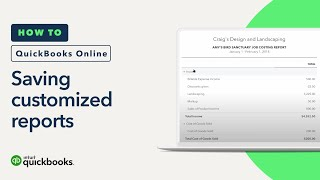How to Save Customized Reports