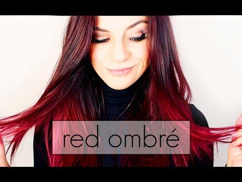 Red ombré hair dye - Rot Ombré färben - Tutorial