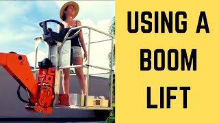 How to use a BOOM LIFT for PAINTING