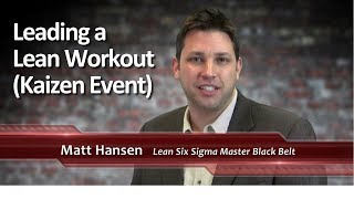 2-14: Leading a Lean Workout Kaizen Event