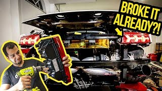 I BROKE My Cheap Lambo's $5,000 Tail Lights To Make Them Work (And They Look AMAZING!)