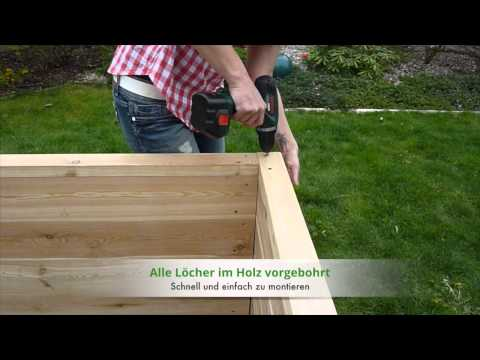 Hochbeet bauen - Mit unserem Hochbeet-Bausatz