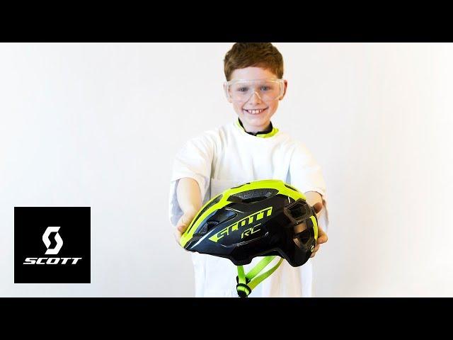 Видео Шлем Scott Spunto Junior Plus черно-желтый