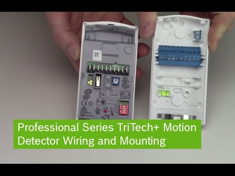 Bosch Professional Series TriTech+ Motion Detector Wiring and Mounting