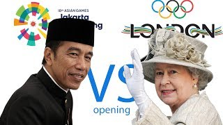 Gambar cover Jokowi president of Indonesia Asian Games Opening 2018 VS Queen Elizabeth Olympic 2012 Opening