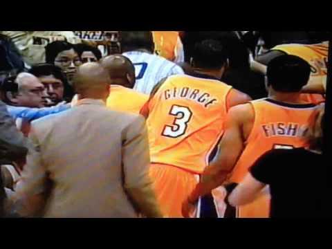 Reggie Miller and Kobe Bryant fight 2002