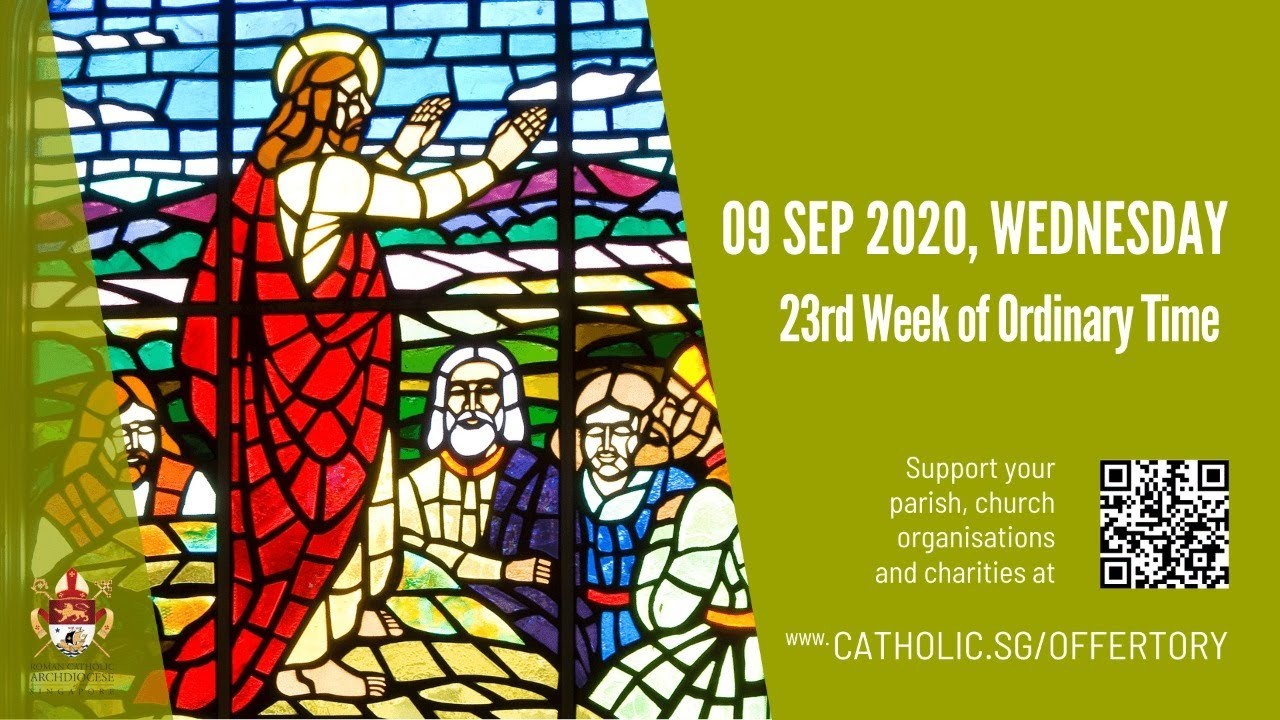 Catholic Mass 9th September 2020 Today Wednesday Online Live From Singapore