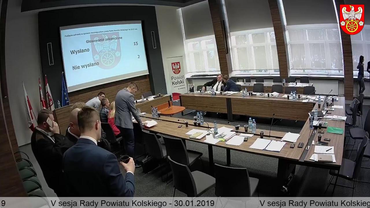 Zdjęcie do V Sesja Rady Powiatu Kolskiego cz.1