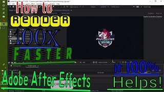 How to Render Faster in After Effects | best render settings | With Subtitles