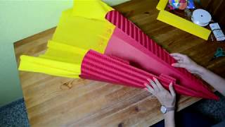 Schultüte basteln - Anleitung zum Schulstart 2021 ✂️ (Zuckertüte)