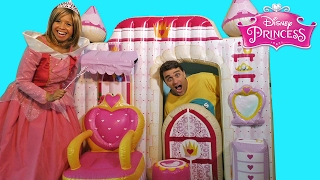 Princess Aurora's Giant Princess Castle ! ||  Toy Review || Konas2002