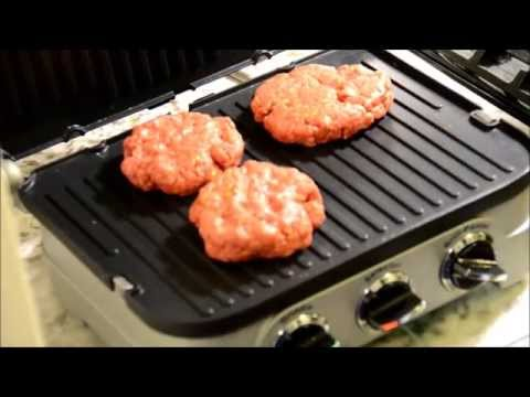 How to make burgers on an electric grill