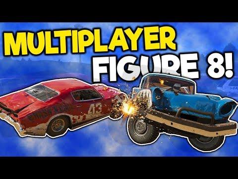 Insane Figure 8 Multiplayer Races & Crashes! - Wreckfest Multiplayer Gameplay