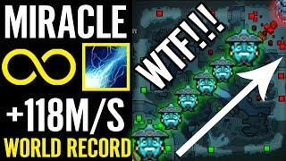 World Record 118Mana/s REGEN Storm Spirit by MIRACLE Dota 2