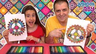MANDALA CHALLENGE. Coloreando con 30 rotuladores brillantes