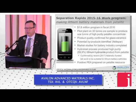 "Avalon CEO presents an ""advanced lithium development oppor ... Thumbnail"