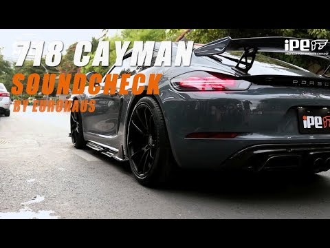 The iPE Titanium exhaust for 718 Cayman