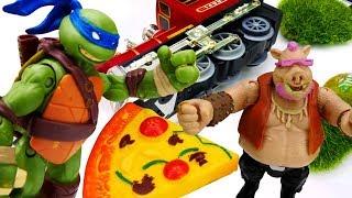 Видео с игрушками: Черепашки Ниндзя попали в аварию!
