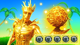 The SOLID GOLD GROOT Challenge In Fortnite!