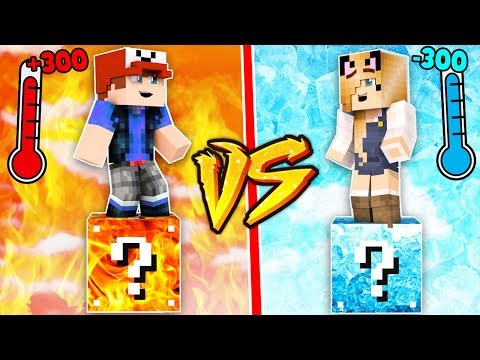 GORĄCE LUCKY BLOCKI VS ZIMNE LUCKY BLOCKI W MINECRAFT | Vito vs Bella