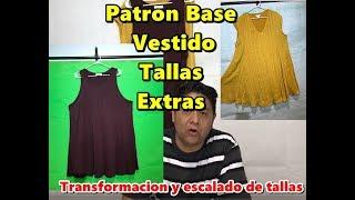 a5e3eb961 Patrones Vestido Tallas Extras Transformacion Y Escalado De Tallas