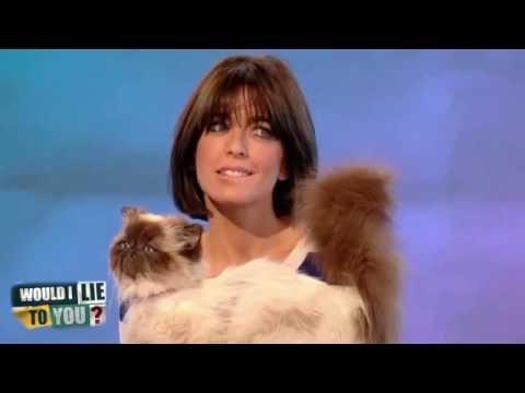 Claudia Winkleman a vycpaná kočka
