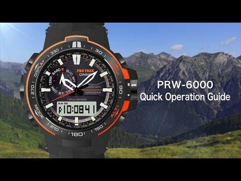 CASIO PRO TREK PRW-6000 Quick Operation Guide