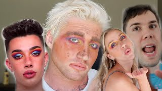 FOLLOWING A JAMES CHARLES MAKEUP TUTORIAL
