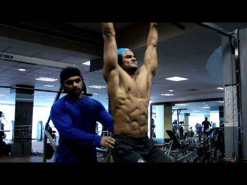 Kunal Gir Training Sudheer Babu at Steel Gym