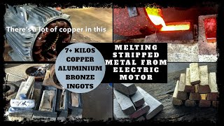 Gambar cover Trash To Treasure - Scrap Bin Electric Motor Melt Down into Bulk Ingots Copper & Aluminium Melting