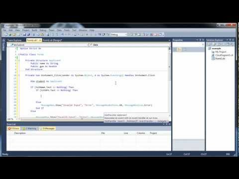 Visual Basic Tutorial 18 – Structures