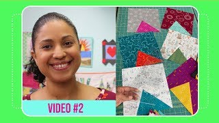 "Samosa Quilt Along with 10"" Slicer- Video #2: Cutting 10"" squares from yardage"