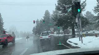 Another foot of snow possible for Big Bear, CA. April 9, 2020