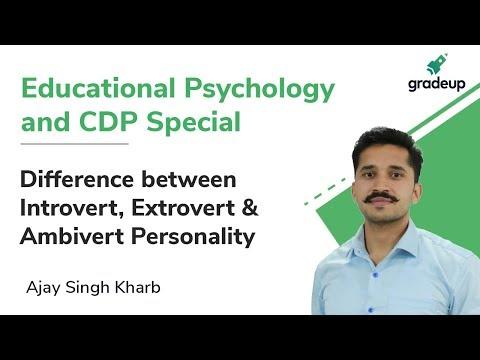Introvert, Extrovert & Ambivert Personality | DSSSB/CTET/UPTET | Educational Psychology & CDP