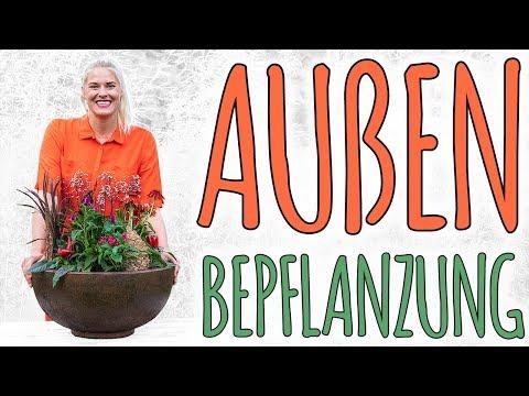 AUßENBEPFLANZUNG - FEUERSCHALE SOMMER-HERBST - DIY
