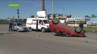 За час сразу две аварии-перевёртыша произошли на дорогах Хакасии