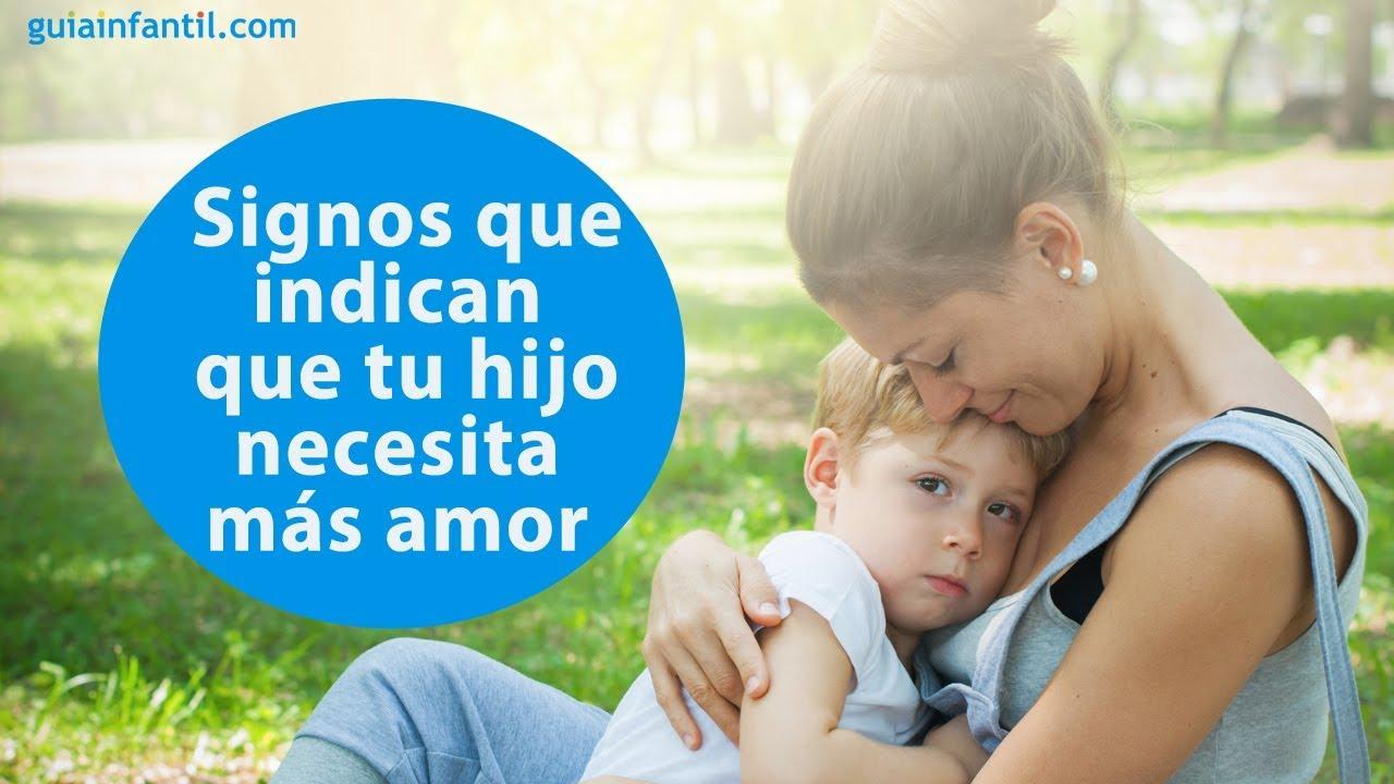 Señales que indican que tu hijo necesita más amor