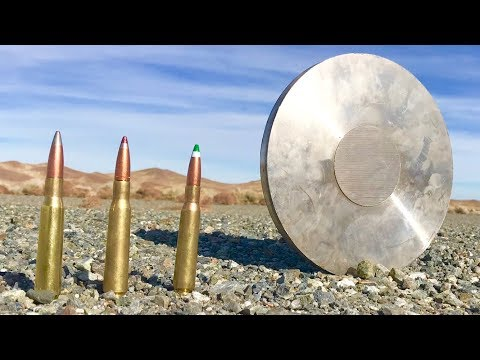 50CAL vs Stainless Steel - heavy sniper rifle