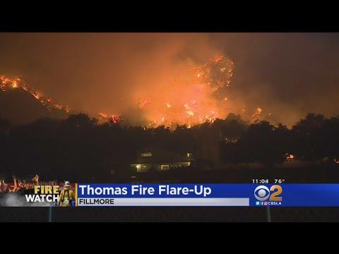 Thomas Fire Takes Aim At Fillmore Overnight