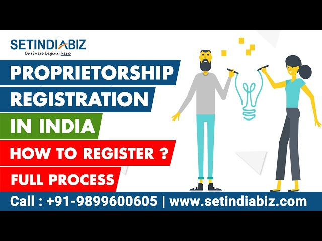 video of Proprietorship Registration Process
