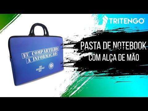 """Pasta de Notebook com Alça de Mão Personalizada para Brinde 13"""""""