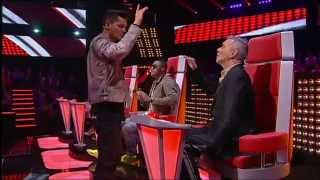 "Tiago Garrinhas VS Gabriela Pina - ""Time Is Running Out"" Muse - Batalha - The Voice Portugal - S2"