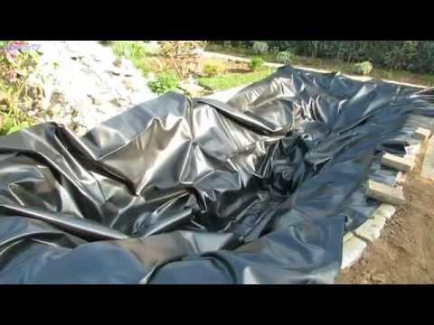 Gartenteich selber bauen ( Video 2 ) Teichfolie verlegen