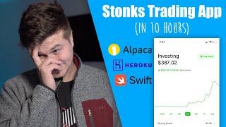 How I Made an App Like Robinhood in 10 Hours! (Alpaca + Xcode + Heroku)
