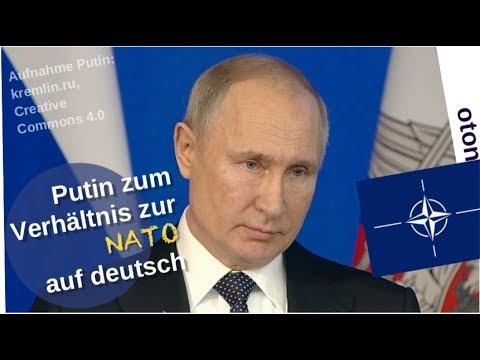 Putin zum Verhältnis zur NATO auf deutsch [Video]