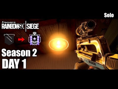 Solo - Road To Diamond - Day 1 - Season 2 - Rainbow Six Siege