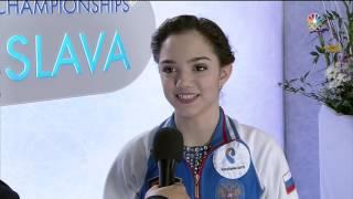 2016 Europeans - Evgenia Medvedeva interview | fluff NBC